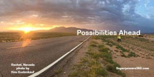 Sunrise Possibilities Ahead Rachel, Nevada